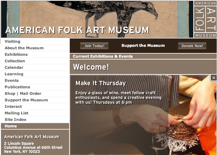 American Folk Art Museum in NY is having troubles