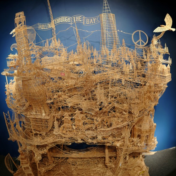 """""""Rolling Through the Bay"""" AMAZING Kinetic toothpick sculpture!!!"""