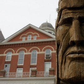 Trail of Whispering Giants – Peter Toth sculpture in Troy, KS
