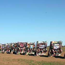 Cadillac Ranch – Colorful homage to the open road