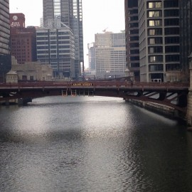 A Chicago drawbridge