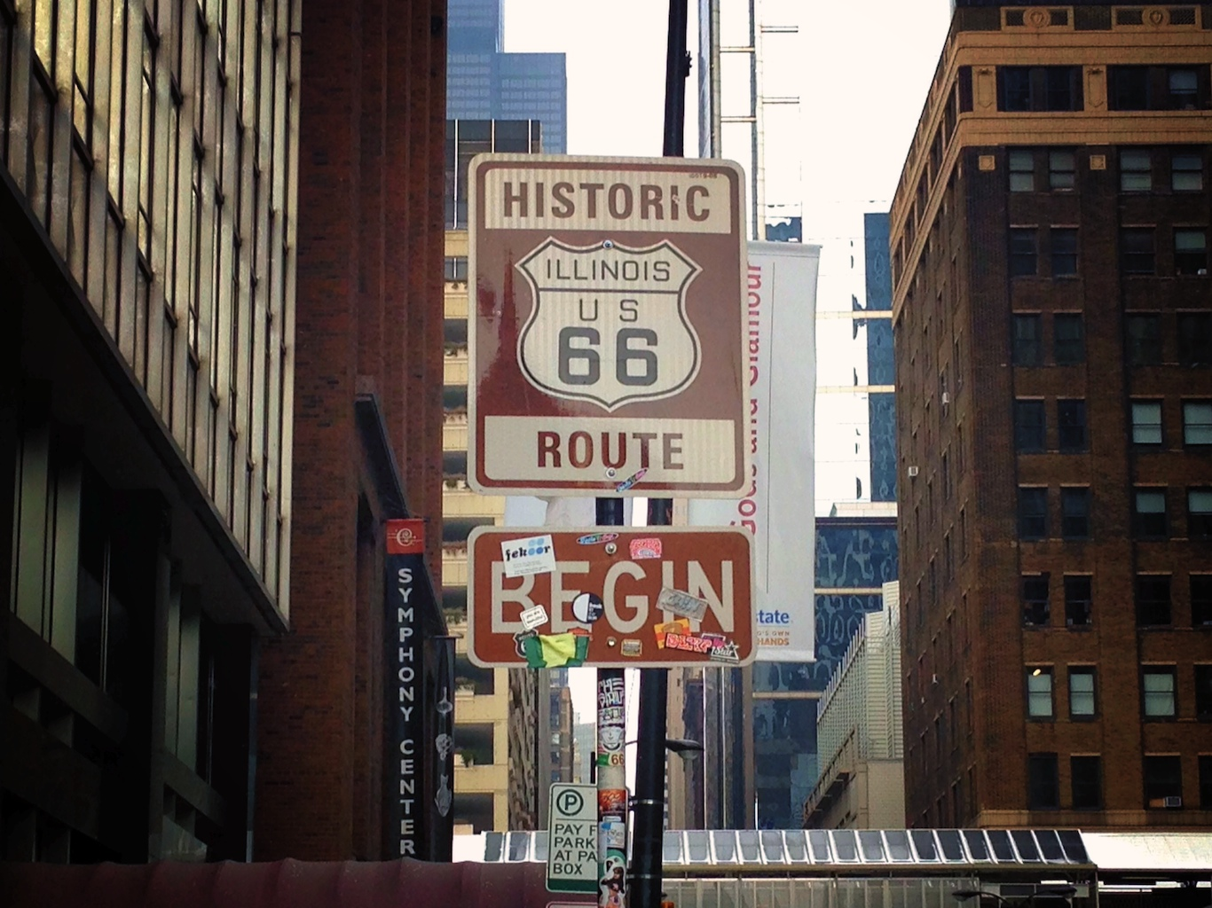 Route 66 city limits plays out on video