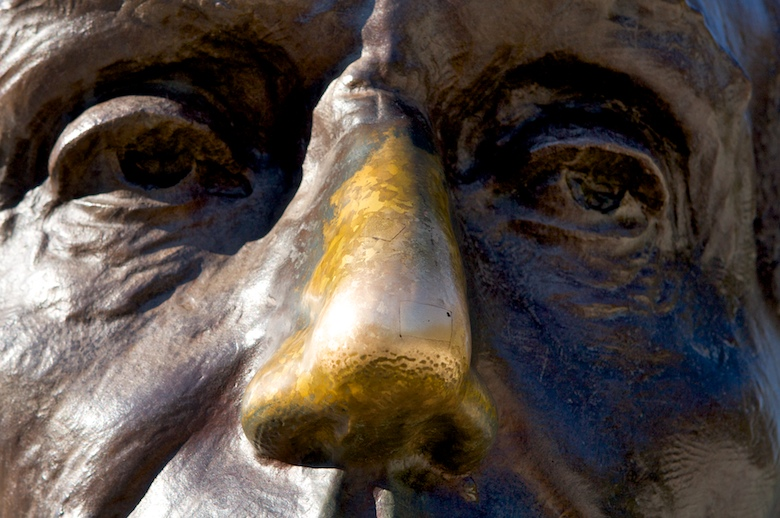 Rub Lincoln's nose for good luck!