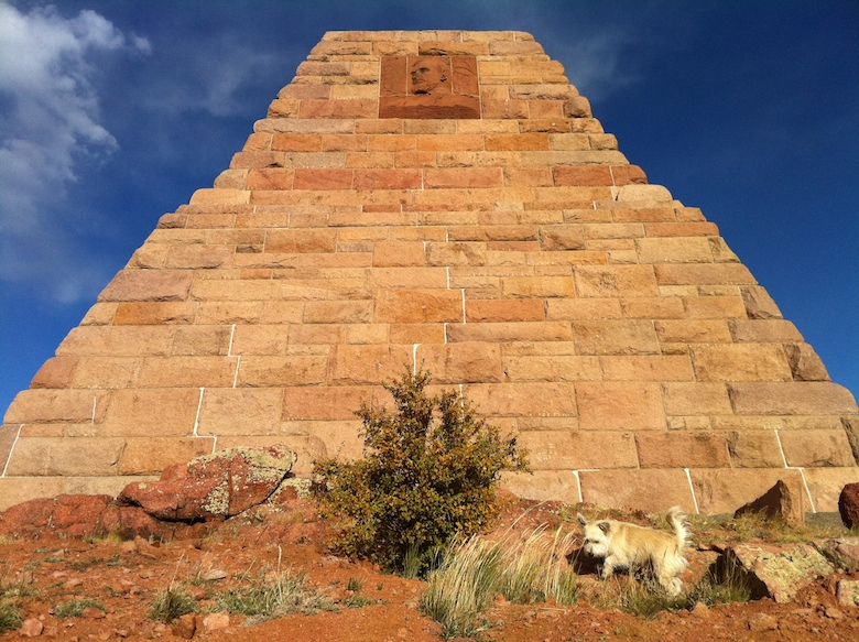 Pyramid in wind-whipped Wyoming — Ames Brothers Pyramid
