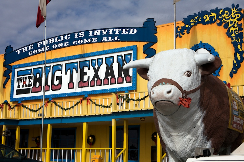 Steaks the size of your head at Big Texan