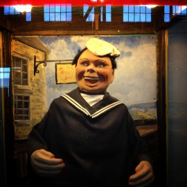 "Musee Mecanique's ""Laughing Sal"" is one of the stranger sailors on Pier 45"