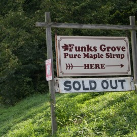 Funks Grove Pure Maple Sirup (not syrup) – a Route 66 delicacy