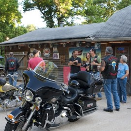 Biker bar, BBQ and bras – everything at the Elbow Inn on 66